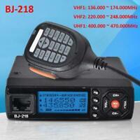BJ-218 Mini Car Radio móvil Walkie Talkie UHF VHF 136-174Mhz 400-470Mhz 25W