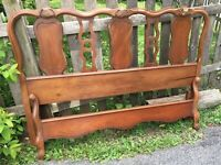 Vintage Sherill Furniture Co French Provincial Cherry Full Size Headboard and Fo