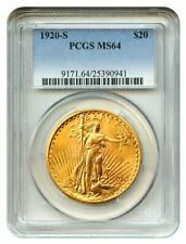 20 dollars 1920 S Saint Gaudens PCGS MS64