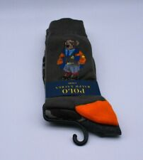 Ralph Lauren Polo Cotton Socks 2 Pairs In Green Camo And Polo The Bear Logo New