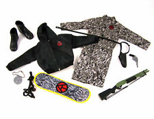 "2010 12"" Gi Joe Club Exclusive Urban Adventurer Uniform Accessory Set New"
