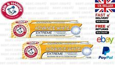 ARM & HAMMER ADVANCED WHITE EXTREME TOOTHPASTE STAIN REMOVER 75ML **UK SELLER**