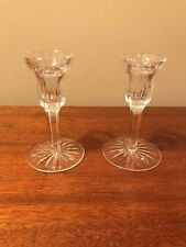 "PAIR OF WATERFORD CRYSTAL 5 3/4"" CANDLE HOLDERS"