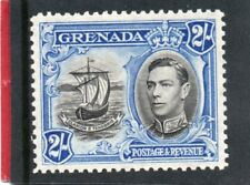 Grenada GV1 1938-50 2s. black & ultramarine sg 161 LH.Mint