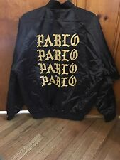 Life Of Pablo Kayne West Tour Satin Bomber Jacket Large