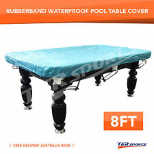 8FT Rubber Band Waterproof Cover for Pool Snooker Billiard Table Free Delivery