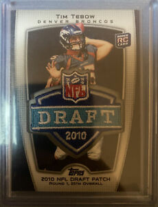 2010 Topps Tim Tebow Target Exclusive NFL Draft Patch Rookie Card #TRGT-3