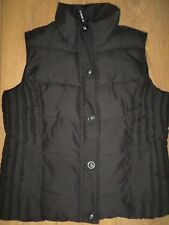 MARKS AND SPENCER PER UNA BLACK PADDED GILET / BODYWARMER SIZE L