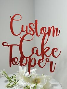 Custom Cake Topper Divorce Party Decor Personalized ~ Made For You