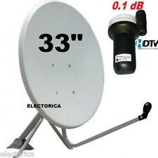 "33"" HIGH QUALITY KU-BAND SATELLITE DISH ANTENNA + LINEAR FTA 10.75 LNB 97 30 36"