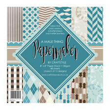 "Pk 12 x 8"" x 8"" SAMPLE Paper Stack Male papers for cards and crafts"