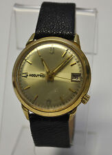 Rare Bulova Accutron M5=1965 Solid 18K Gold Man's Watch  218-D Movement