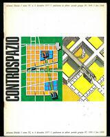 Architettura Controspazio n. 6 diembre 1977