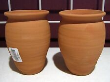 Jarritos/Cantaritos de Barro. Mexican Clay cups. Ethnic clay containers.SET OF 2