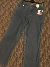 Blue High Waisted Summer Jeans M&S New Size 12 Short Cost £35
