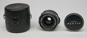 ASAHI PENTAX  M42 SCREW FIT 35mm f3.5 SUPER TAKUMAR WIDE ANGLE LENS  + CASE