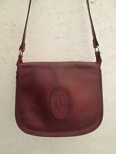 Authentique petit sac à main  CARTIER cuir bag vintage /
