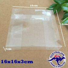 10 x Square  Clear PVC /Favour boxes Gift Box 16x16x3cm