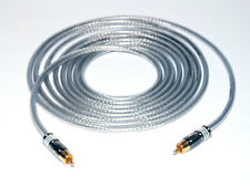 2,00m Mono Subwoofer LFE Kabel DER BASSHAMMER mit Hicon HI-CM07 Cinchsteckern