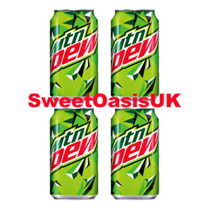 Genuine 4x American Mountain Dew Cans 355ml American Import Cheap