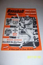 1972 Baseball Digest OAKLAND A's REGGIE JACKSON No Label NewsStand PETE ROSE