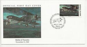 50th Ann WWII Comm/FDC - Marshall Isles - Battle of Taranto -1990 (1933)Z