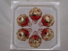 """Weihnachtsbaumkugel 5cm """"Tradition"""" mundgeblasen, handbemalt Lauscha"""