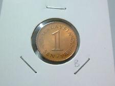B: Malaysia 1 Sen coin (1988) - UNC Lustre