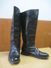 USSR Russian Officer Calfskin Leather Riding Military Boots boxcalf chrome