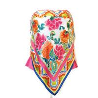 Cache Womens Hot Pink Fuchsia Silk Sleeveless Tie Back Handkerchief Top XS