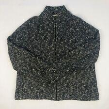 EVAN-PICONE Womens Sweater Gray Turtleneck Long Sleeve Size Medium RIbbed Sleeve