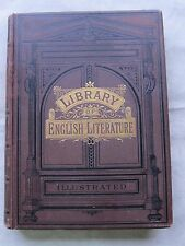Old Book Library of English Literature English Verse and Prose Late 1800's FC-GC