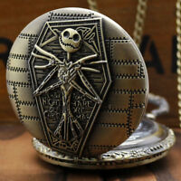New Gift The Burton's Nightmare Before Christmas Pocket Watch Necklace Chain