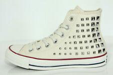 New all Star Converse Chucks Hi Studded Studs Trainers Egret 540367c Gr.38 UK5,