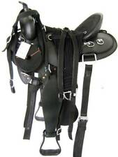 "'THSL'  WESTERN GAITED HORSE SYNTHETIC SADDLE PKG 17""/17.5"" BLACK (1011BL)"