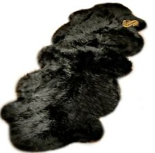 Shag Rug Black Sheep Double Sheepskin Area Rug / Carpet Runner / Faux Fur