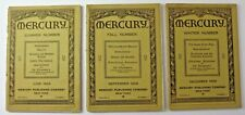 Lot of 3: Mercury Publishing Co Vol 13 June-Sept-Dec 1928, Rosicrucian/Esoteric