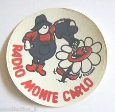 ADESIVO RADIO / Sticker / Autocollant _ MONTE CARLO ZODIACO ACQUARIO (cm 9)