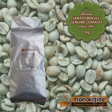 Caffè Verde in Grani Santos Brasile Genuine Cerrado 1 Kg - Caffè Arabica 100%