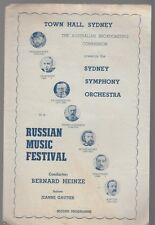 [36806R] 1944 Sydney Symphony Orchestra Russian Music Festival Program
