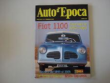 AUTO D'EPOCA 2/2002 DE TOMASO PANTERA/FIAT 1100 FUORISERIE/TARGA FLORIO 2001