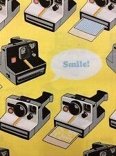 RPG672 Retro Polaroid Cameras Photography Instant Photo Cotton Quilt Fabric