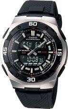AUTHENTIC Casio Mans Ana Digi World Time Alarm Sport Watch Black Dial AQ-164W-1A