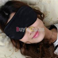 Eye Mask Cover Shade Blindfold Sleeping Travel Black BA