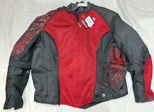 New Joe Rocket Cleo 2.2 Mesh Padded Motorcycle Riding Jacket Womens Size Large