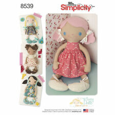 "New Simplicity 8539 pattern 15"" Stuffed Dolls & Clothing 4 styles FREE SHIPPING"