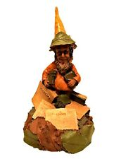 Tom Clark Cairn Gnome Figurine 1986 Pedro 1158 Newspapers Leaves 6.5 inches