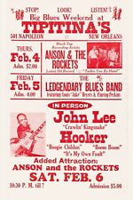 John Lee Hooker at Tipitina's In New Orleans Concert Poster Late 1979  12x18