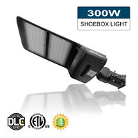 White Shoe-box 150w LED Parking Lot Light Fixture ETL DLC approved Philis chips