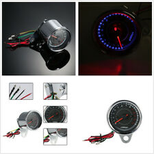Stainless Steel Shell 13K RPM Shift Meter Motorcycle LED Tachometer Speedometer